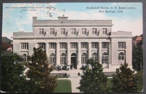 Buckstaff Baths U S Reservation Hot Springs AR Postcard 1916 F C Boving A-31251