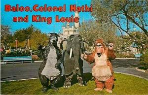 CA, Anaheim, California, Disneyland, Baloo, Colonel Hathi and King Louie
