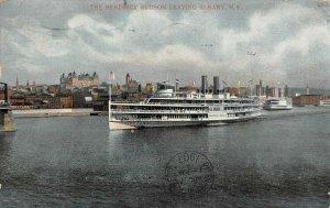 LP21  Ship Hendrick Hudson Albany New York Vintage Postcard