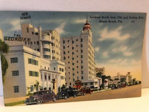 1940s 17th and Collins Avenue Miami Beach Florida Postcard Hotels