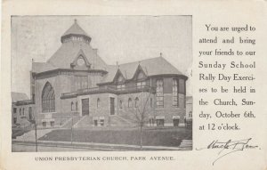 SCHENECTADY , New York , 1907 ; Union Presbyterian Church