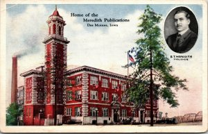 HOME OF MEREDITH PUBLICATIONS, DES MOINES, IOWA., POSTCARD