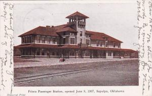 Frisco Passenger Station Opened June 8, 1907, Sapulpa Oklahoma 1907