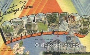 Arkansas USA Large Letter Town Unused