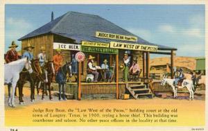 TX - Langtrey, Judge Roy Bean Holding Court in 1900