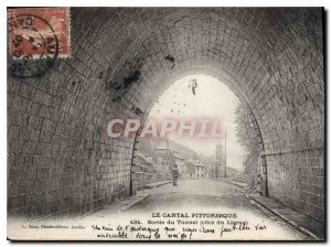 Postcard Old Picturesque Cantal Output Tunnel Riviera Lioran