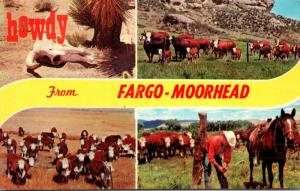 North Dakota Howdy From Fargo-Moorehead Showing Cattle Cows