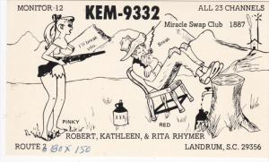 QSL Radio Postcard , KEM-9332 , LANDRUM , South Carolina , 50-60s