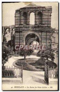 Old Postcard Ruins of Bordeaux Palais Gallien