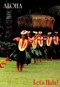 Hawaii Beautiful Girls Let's Hula 1991