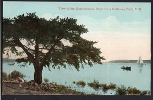 New Brunswick ~ View of the Kennebecasis River from ROTHESAY PARK Divided Back
