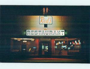 Pre-1980 RED'S RESTAURANT Iiwaco Washington WA p7359
