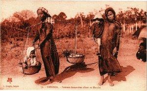 VIETNAM INDOCHINE - Cochinchine - Bienhoa - Femmes Annamites allant (190144)