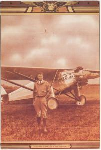 Colonel Charles A. Lindbergh, The Spirit of St. Louis, unused Postcard