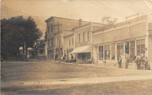 F55/ Hannibal New York RPPC Postcard 1924 West Side Square Stores