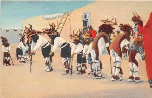 Pueblo Indians  Rehearsing for the Deer Dance
