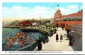 Utah Salt Lake City Portion Of Saltair Pavilion On Great Salt Lake Curteich