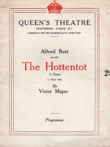 The Hottentot Maidie Hope Jane Welsh Drama Queens Theatre Programme