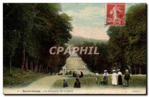 Saint Cloud Old Postcard The iron horse lawn