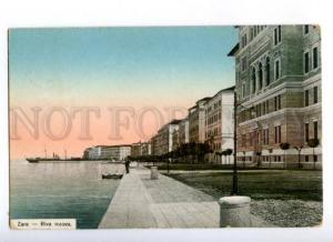 174131 CROATIA ZARA Zadar Riva nuova Vintage postcard