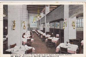 California Los Angeles Ye Bull Pen Inn Mayflower Hotel 1929
