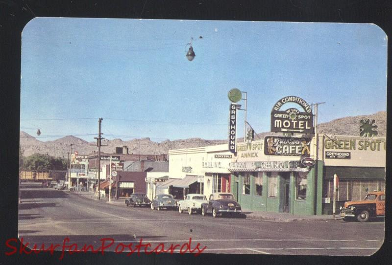 VICTORVILLE CALIFORNIA ROUTE 66 GREYHOUND BUS DEPOT DOWNTOWN POSTCARD