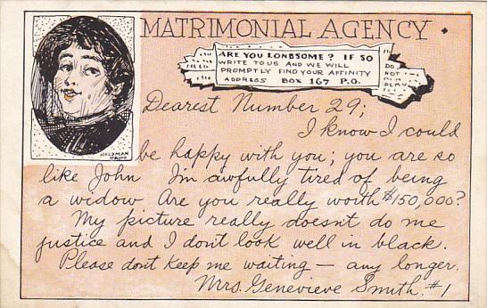 Humour Matrimonial Agency Dearest Number 29