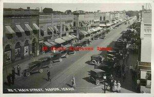 ID, Nampa, Idaho, RPPC, Main Street, Business Section, Andrews Photo No 7