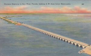 Florida Overseas Highway To Key West Looking Southwest From Lower Matecumbe I...