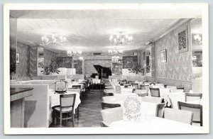 New York City~Cafe Geiger Interior~Baby Grand Piano~East 86th Street~1950s