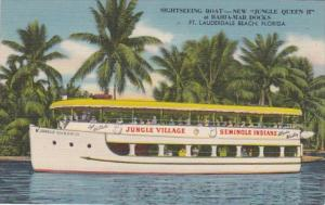 Florida Fort Lauderdale Sightseeing Boat New Jungle Queen II At B...