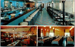 Framingham, Mass. Postcard ARMAND'S BEACON TERRACE Bar / Banquet Hall Views