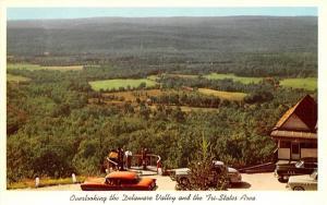 Overlooking the Delaware Valley Port Jervis, New York Postcard