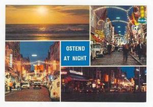 4 Night Views Of Ostend (West Flanders), Belgium, 1940-1960s