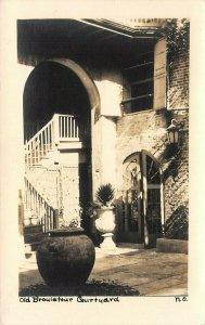 LP72   New Orleans   Louisiana RPPC Postcard Old Broulatour Courtyard