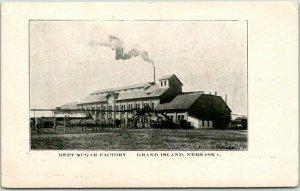 Grand Island, Nebraska Postcard BEET SUGAR FACTORY Building View c1910s Unused