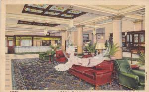 Lobby, Hotel Maryland, St. Louis, Missouri,  30-40s