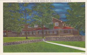 North Carolina Hendersonville Kanuga Lake Inn By Moonlight