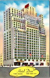 Hotel Dixie New York Time Square Plantation Bar and lounge no Cabaret Postcard