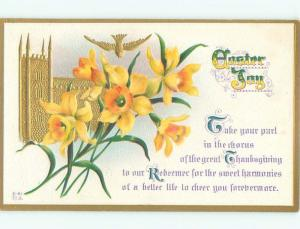 Divided-Back EASTER SCENE Great Postcard AA1271