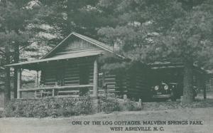 Log Cottage, Malvern Springs Park, West Asheville, North Carolina, 30-40s