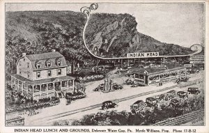 Indian Head Lunch & Grounds, Delaware Water Gap, PA, Early Postcard, Unused