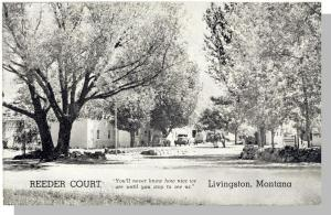 Beautiful Livingston, Montana/MT Postcard,  Reeder Court