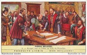 Liebig Vintage Trade Card S1781 Peter Bruegel No 6 Bruegel recu a l'Hotel de ...