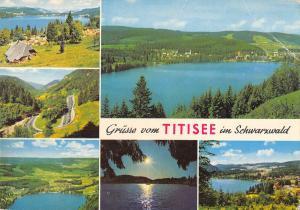 GG13831 Gruesse vom Titisee im Schwarzwald Campingplatz Lake Forest Panorama