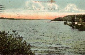 Maine Winthrop View On Lake Maranacook 1907