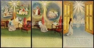 THE STAR OF BETHLEHEM Bamforth & Co Song Cards set of 3 No 4534/1/2/3