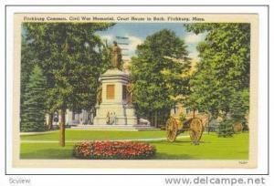 Civil War Memorial, Fitchburg, Massachusetts, 30-40s