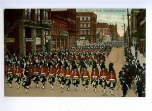 192504 CANADA TORONTO 48th Highlander soldier Vintage postcard