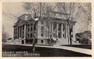 F50/ Prescott Arizona RPPC Postcard c1920s Court House Building